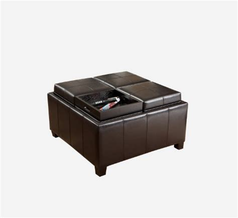 storage ottoman tray top best selling mason leather espresso tray top storage