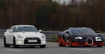 Bugatti Vs Nissan Bugatti Veyron Vitesse Vs Nissan Gt R Alpha 12 1 200 Hp Race