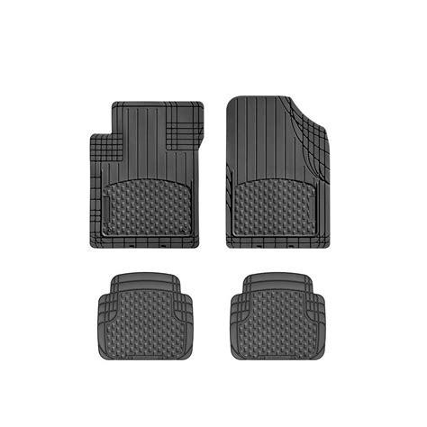 weathertech black 19 in x 27 in rubber car mat 4