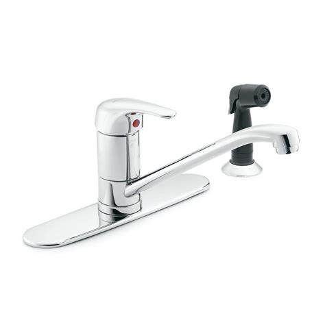 Moen Kitchen Sink Sprayer Moen M Dura Commercial Single Handle Standard Kitchen Faucet With Side Sprayer In Chrome 8707