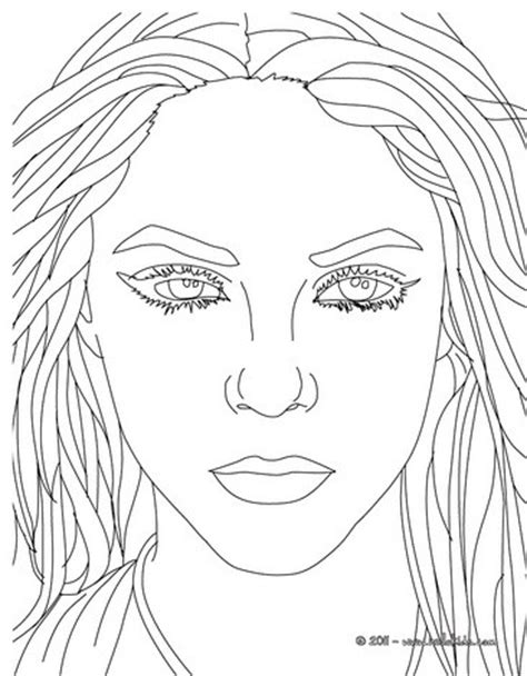 shakira portrait coloring pages hellokids com