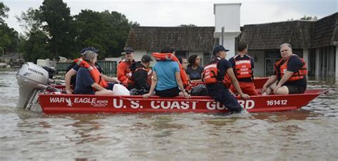 coast guard to the rescue in louisiana workboat - Coast Guard Flat Bottom Boat