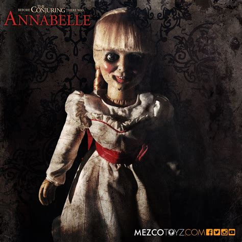 the conjuring 2 annabelle doll the conjuring annabelle scaled prop replica mezco toyz