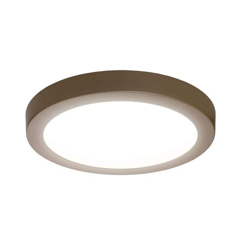 flush mount ceiling lights shop sylvania 15 in w brushed nickel led flush mount light
