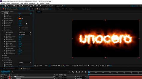 tutorial after effect en pdf tutorial efecto fuego en after effects