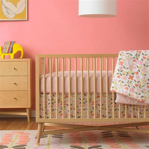 Mid Century Baby Crib by 17 Best Images About Pink Baby Rooms On Pink