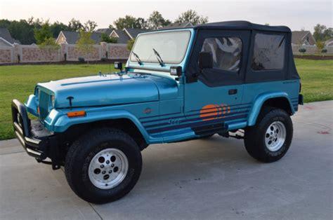 1991 jeep islander very rare restored jeep islander yj 6 cylinder very good