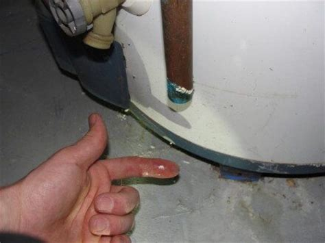 Why the relief valve at the water heater is leaking, and