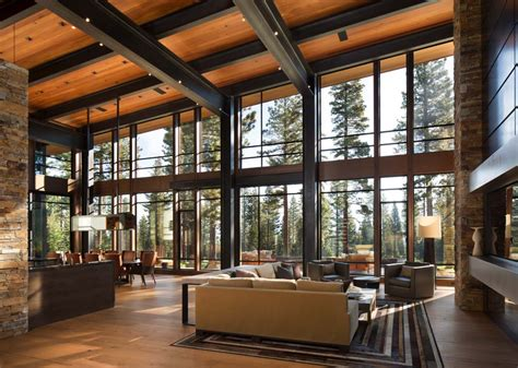 mountain homes interiors fabulous mountain modern retreat in the high sierras