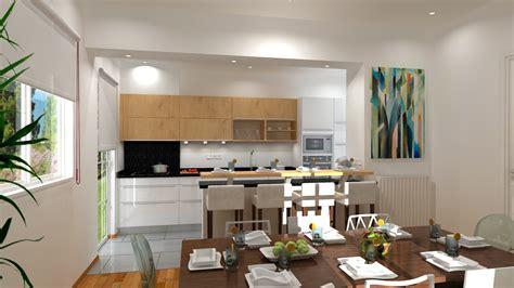 sejour ouvert sur cuisine cuisine moderne ouverte sur sejour