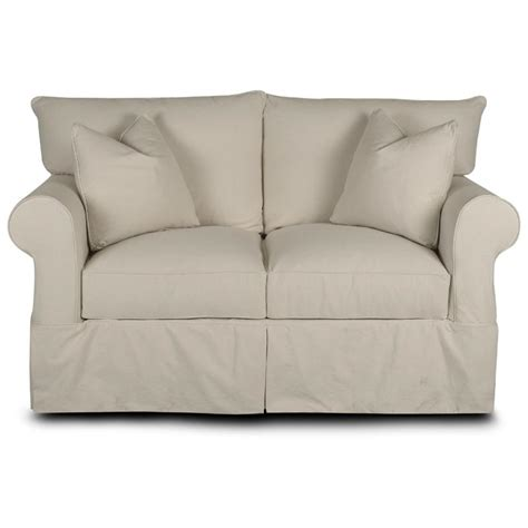 klaussner slipcovers klaussner jenny slipcover loveseat with rolled arms and