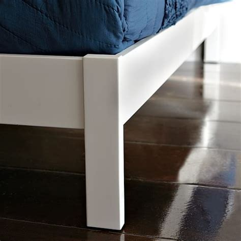 Simple White Bed Frame by Morocco Bed White West Elm