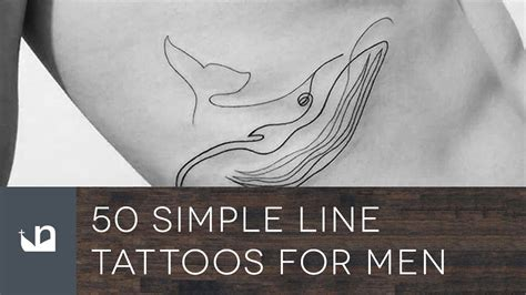 50 simple line tattoos for men youtube