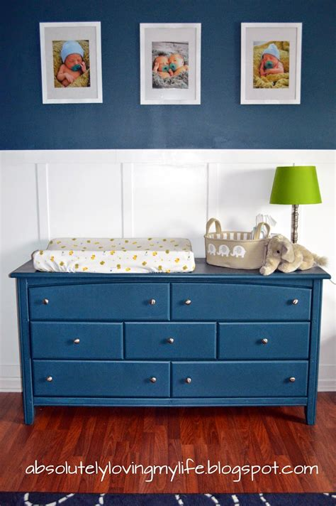Navy Changing Table Navy Blue Dresser Great Navy Blue Dresser Midcentury