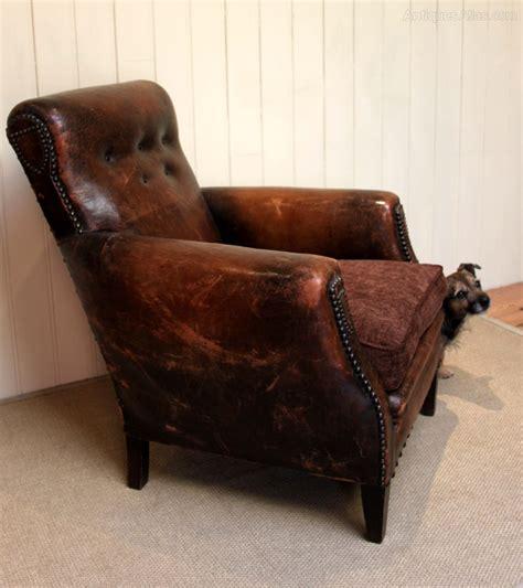 french leather armchair french leather armchair antiques atlas