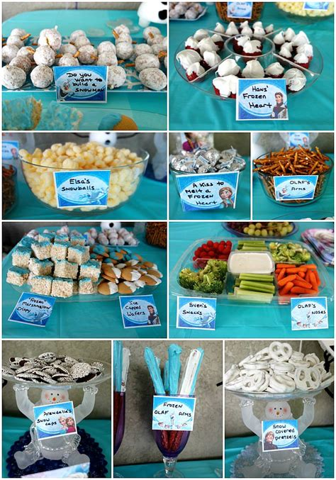 frozen themed birthday food frozen birthday party decorations food games printables