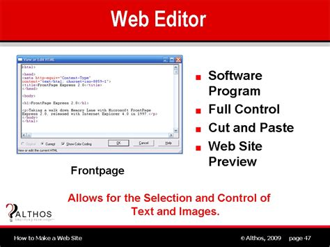 tutorial web editor web site design web editor