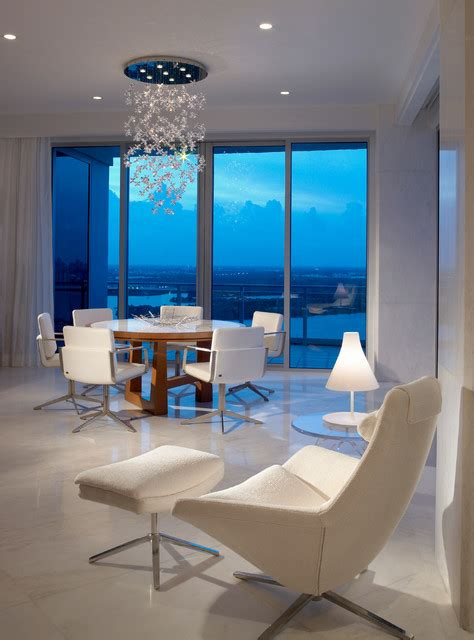 Modern Dining Room Miami Penthouse Miami Contemporary Dining Room