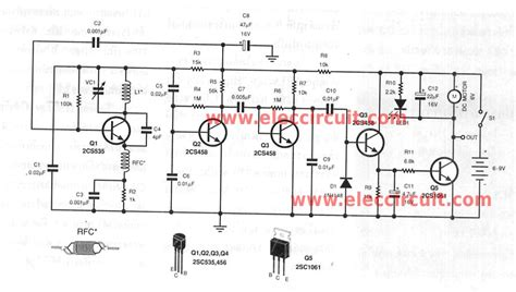 radio remote circuit diagram small rf universal remote controls electronic projects