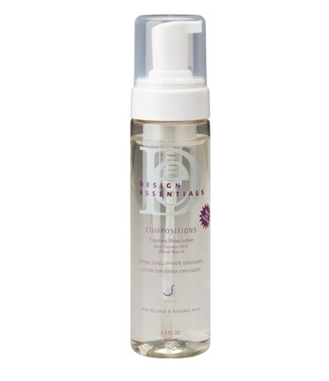 design essentials for professional holding spray design essentials compositions foaming wrap lotion