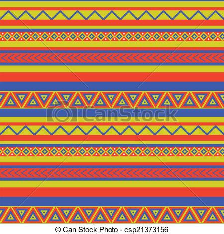 mexican pattern vector art clipart vector of mexico pattern bright coloured
