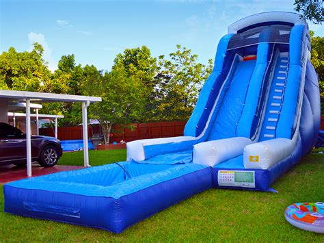 water bounce house rental 22ft adventure water slide bounce house rentals in miami fl mom s party rental