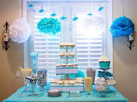 Cake Table Decorations For Baby Shower by Baby Shower Tables Dessert Table Blue