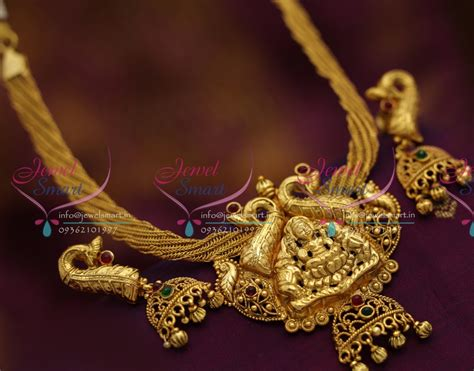 Handmade Gold Jewellery Designs - nl6591 antique nagas temple ethnic jewellery handmade gold