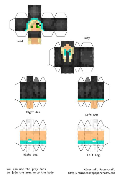 Minecraft Pixel Papercraft - pixel papercraft skins images