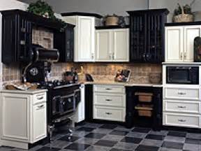 Black And White Kitchen Cabinets by Venturing To The Dark Side Of Cabinets Hgtv