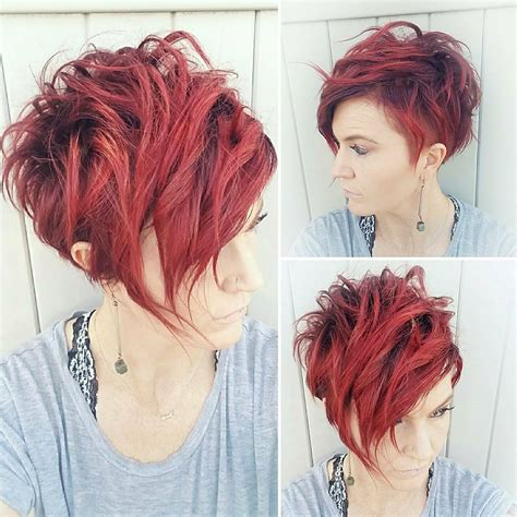 highly stylish short hairstyle  women