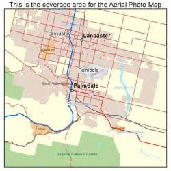 aerial photography map of palmdale ca california