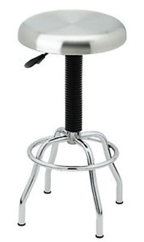 Work Stool Adjustable Height by New Adjustable Height Swivel Stool Stainless Steel Chrome