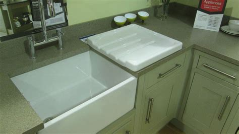 Belfast Sink With Integrated Drainer by Country Kitchen Ceramic Belfast Sink Kitchen Drainer