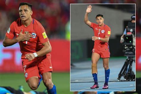 alexis sanchez mirror alexis sanchez scores match winning double for chile and