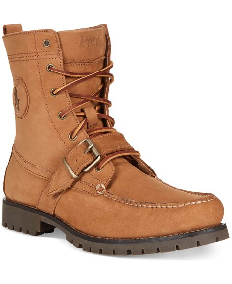 polo ralph ranger boots in brown for lyst