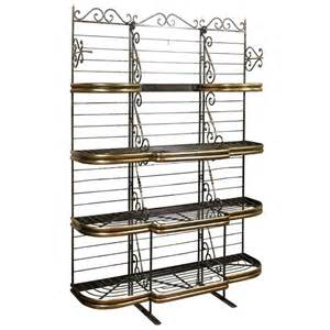 Iron Bakers Rack Iron And Brass Bakers Rack At 1stdibs