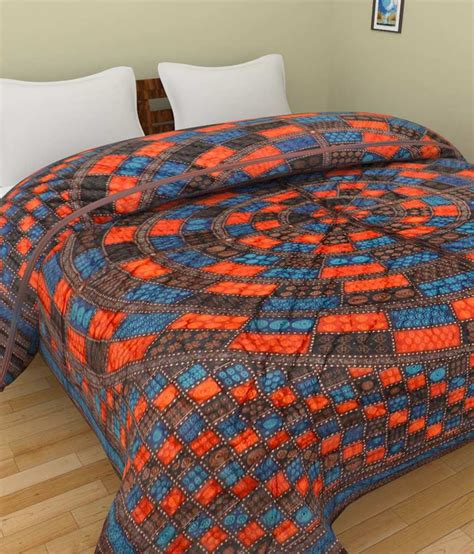 Reversible Quilts by Grj India Multicolour Cotton Printed Reversible Block