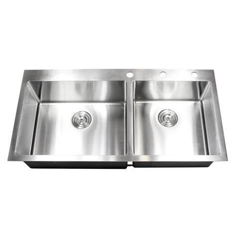 42 inch kitchen sink 43 inch top mount drop in stainless steel bowl
