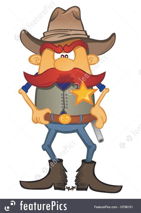 illustration  sheriff cartoon