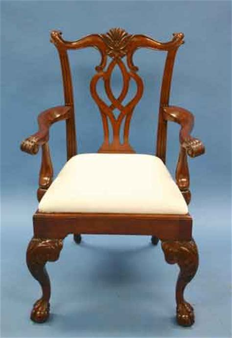 mahogany scroll back chippendale dining chairs for sale