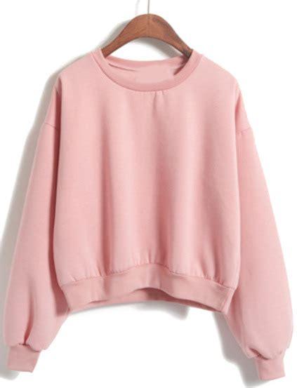 Crop Hodie Pink pink crop sweatshirt fashion ql
