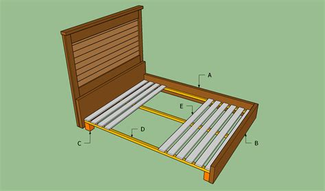 Handmade Bed Frame Plans - king size bed frame plans bed plans diy blueprints
