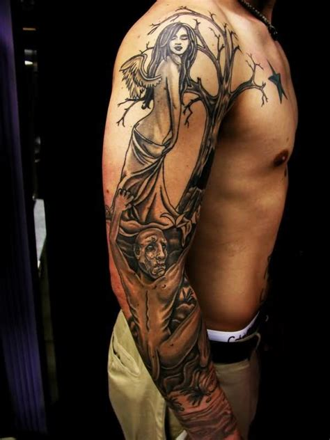 evil tattoo sleeve designs evil images designs