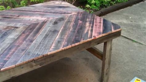 Diy Project Build A Patio Table From Reclaimed Wood Youtube How To Make A Patio Table