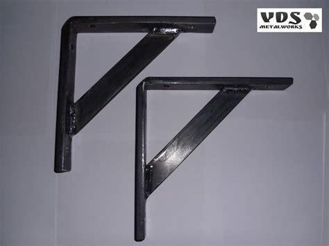 heavy duty shelf brackets handmade industrial style garage