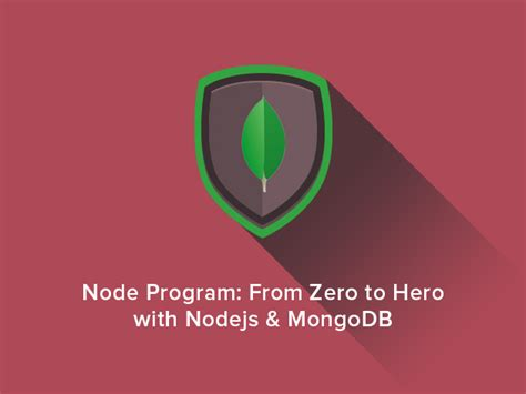 node js tutorial zero to hero mongodb data master bootc sourceforge deals