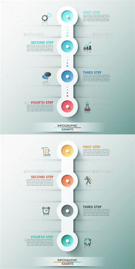 Business Infographic Modern Infographic Process Template 2 Colors Photoshop Psd Paper Infographic Template Psd