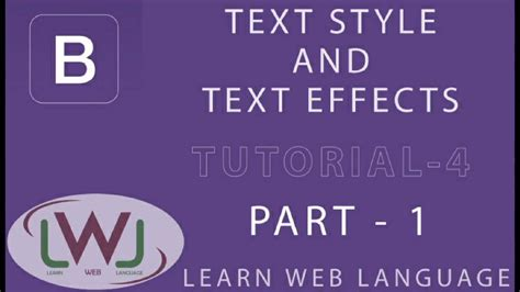 bootstrap tutorial in hindi bootstrap tutorial in hindi 4 text effects and text