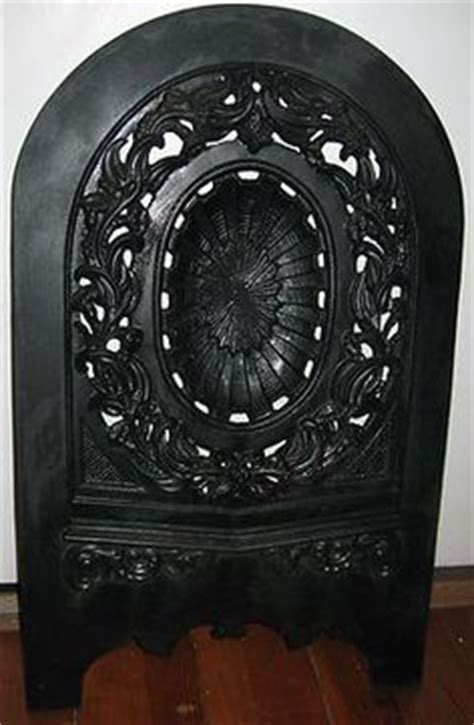 antique late 1800 s cast iron ornate fireplace cover
